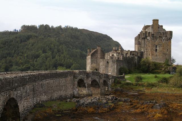 Castle eilean donan castle ancient.