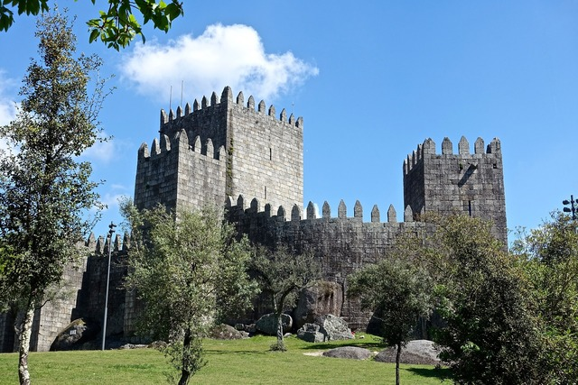 Castle embattlement tower.