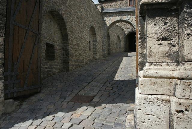 Castle entrance castle middle ages.