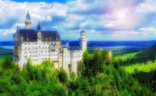 Castle fairy tale kingdom.