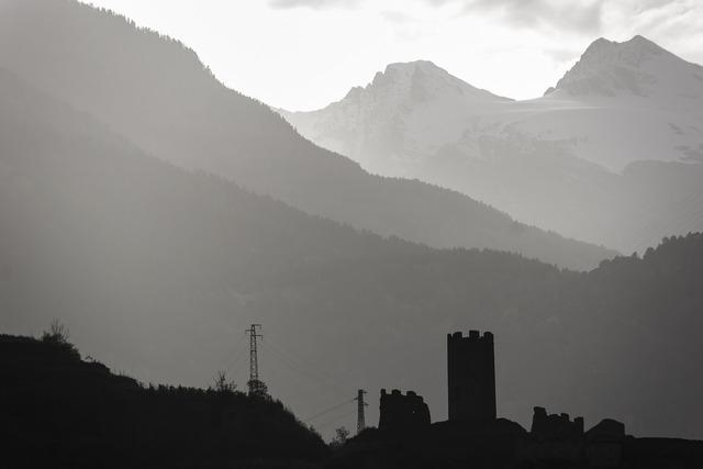Castle fog evening.