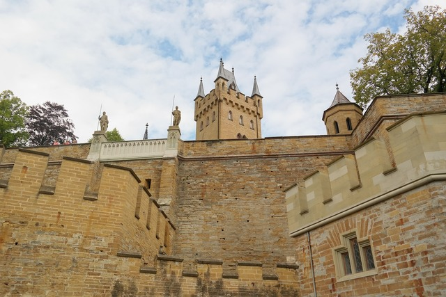 Castle fortress battlement.