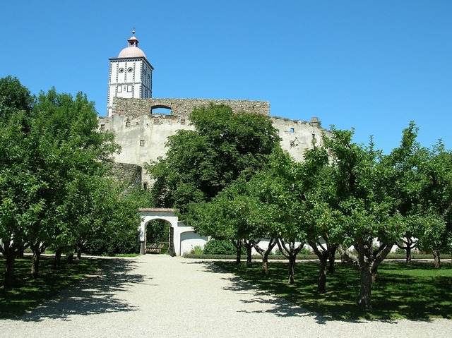 Castle fortress garden.