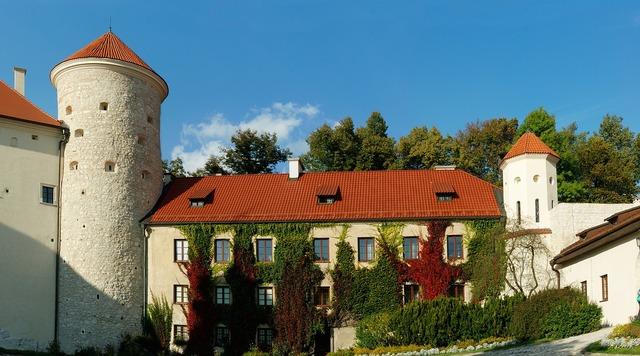 Castle fortress medieval, architecture buildings.