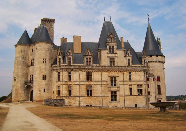 Castle france rochefoucauld, architecture buildings.