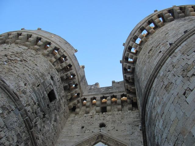 Castle gate stones.