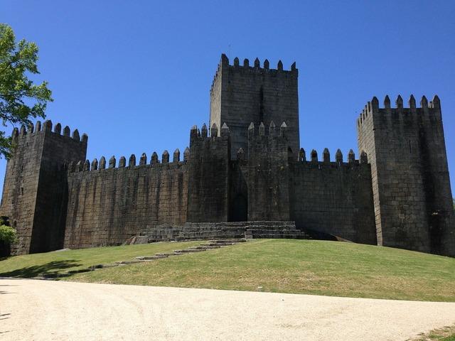 Castle guimarães portugal.