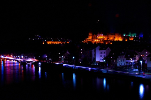 Castle heidelberg night.