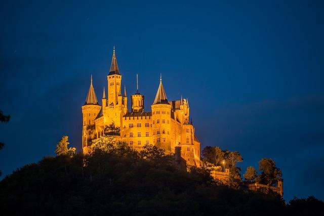 Castle hohenzollern night.