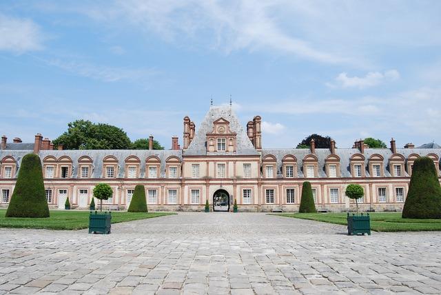 Castle imposing symmetrical.