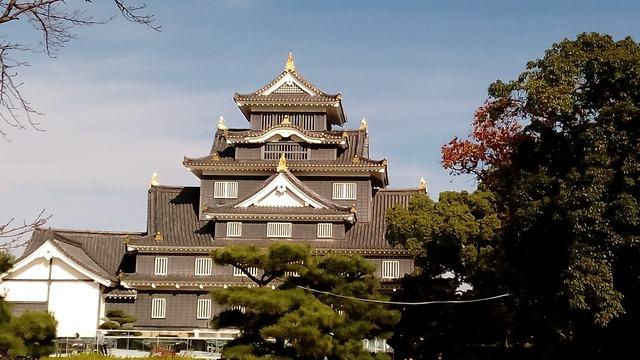 Castle japan okayama, architecture buildings.