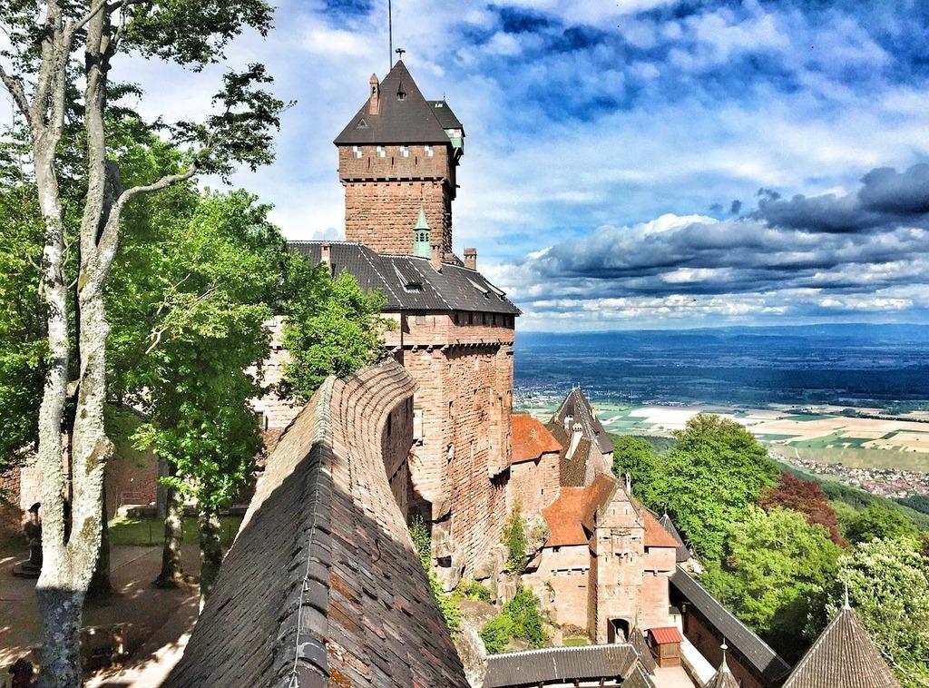 Castle knight's castle fortress, architecture buildings.