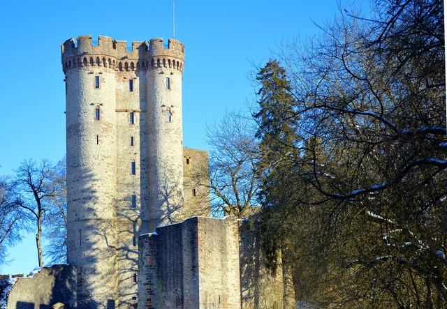 Castle knight's castle tower, architecture buildings.