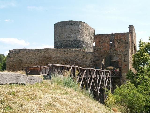 Castle krakovec gothic, architecture buildings.