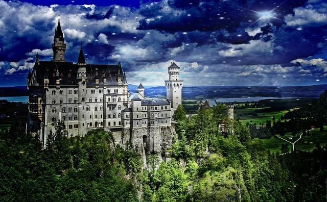 Castle kristin fairy castle, architecture buildings.