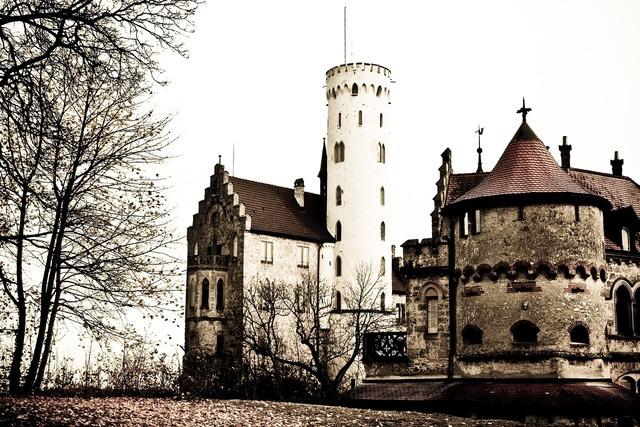 Castle lichtenstein castle tower, places monuments.