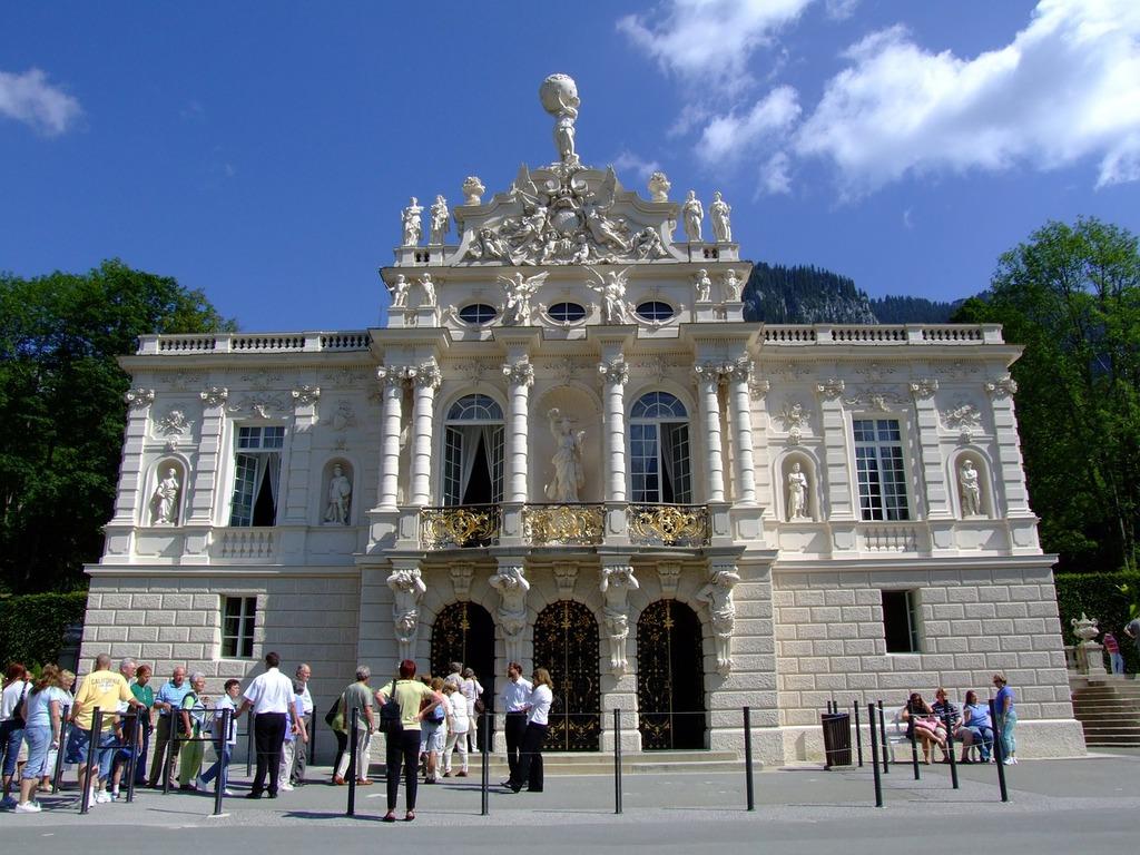 Castle linderhof palace architecture, architecture buildings.