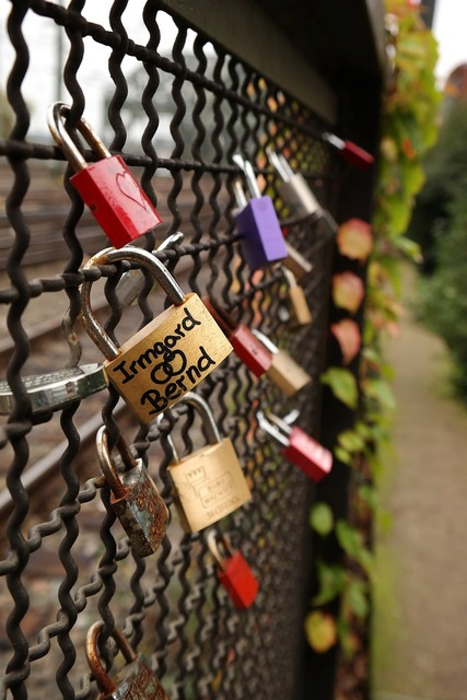 Castle love love locks, emotions.