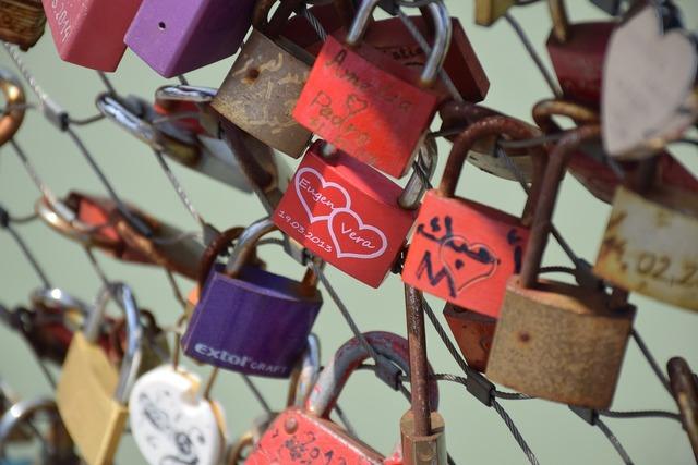 Castle love padlock, emotions.
