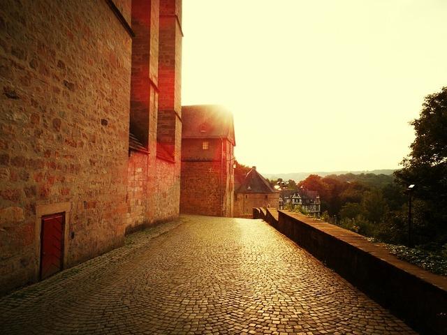 Castle marburg sun, architecture buildings.