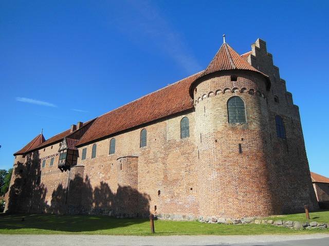 Castle medieval cultural heritage, architecture buildings.