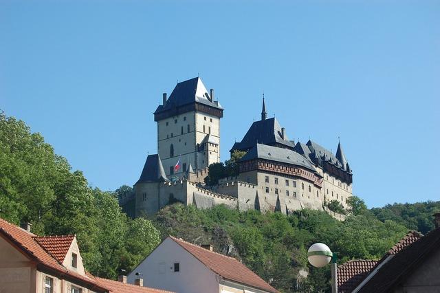 Castle monument the czech republic, architecture buildings.
