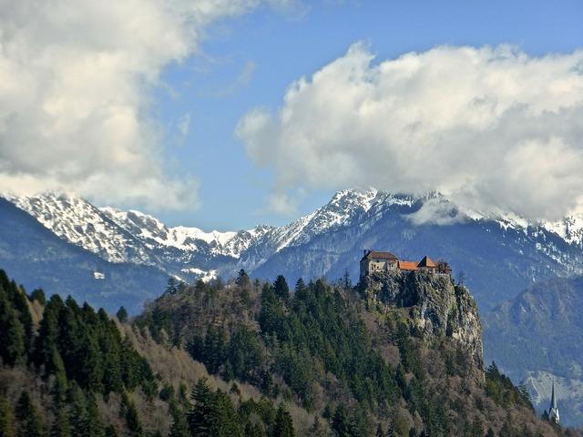 Castle mountains hilltop.