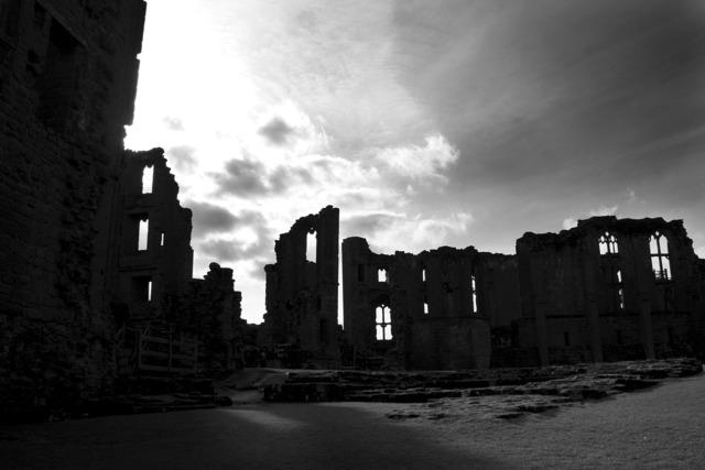 Castle mysterious dark, architecture buildings.
