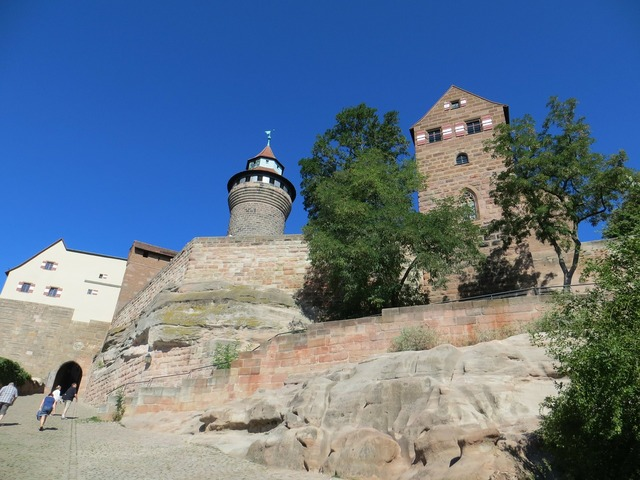 Castle nuremberg middle ages.