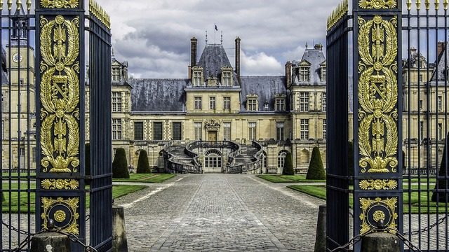 Castle of fontainebleau residence royal, architecture buildings.