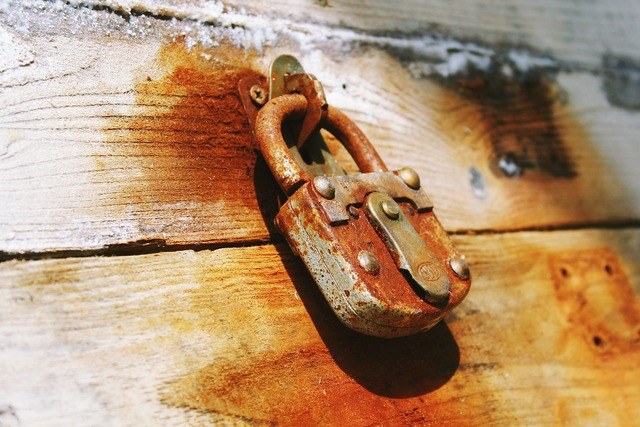 Castle padlock metal.