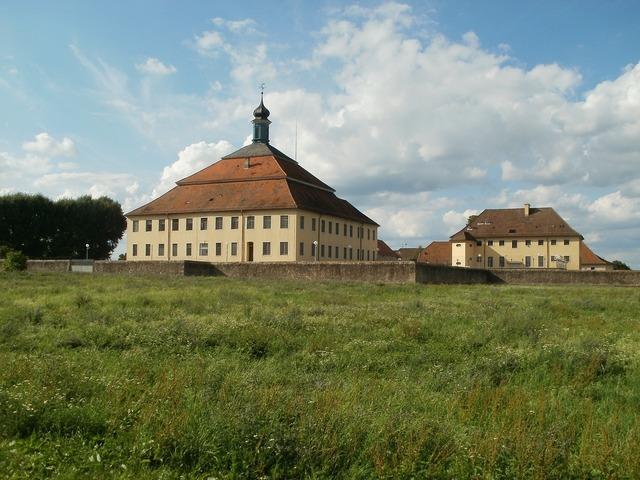 Castle palace kislau, architecture buildings.