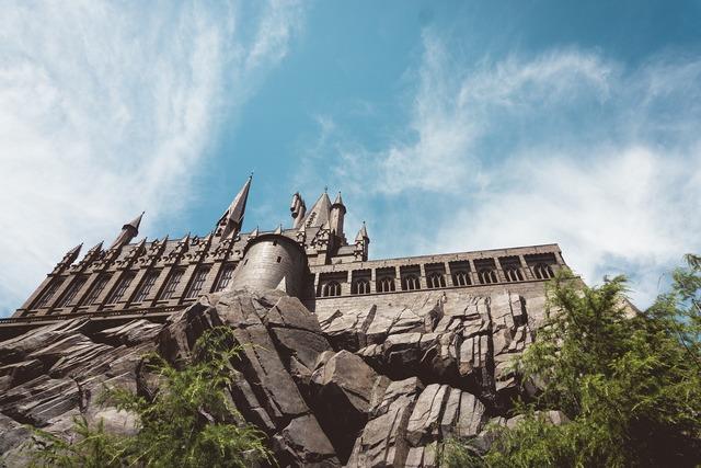 Castle palace rock, architecture buildings.
