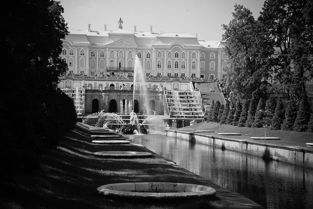 Castle petersburg fountain, places monuments.