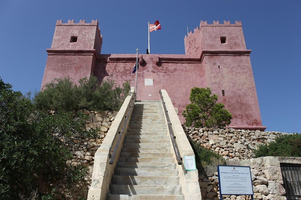 Castle red malta, architecture buildings.