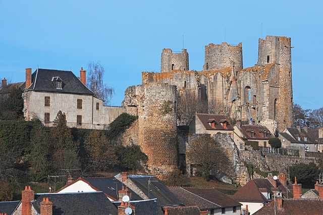 Castle ruin fortress, places monuments.