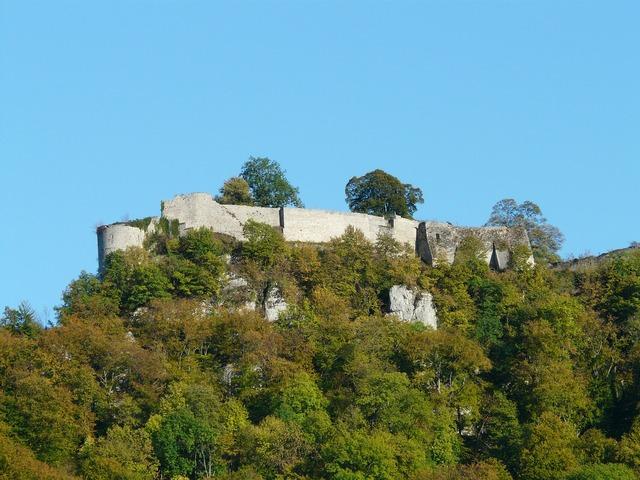 Castle ruin high urach, nature landscapes.