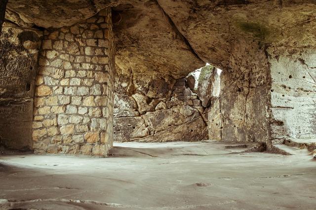 Castle ruin vault.