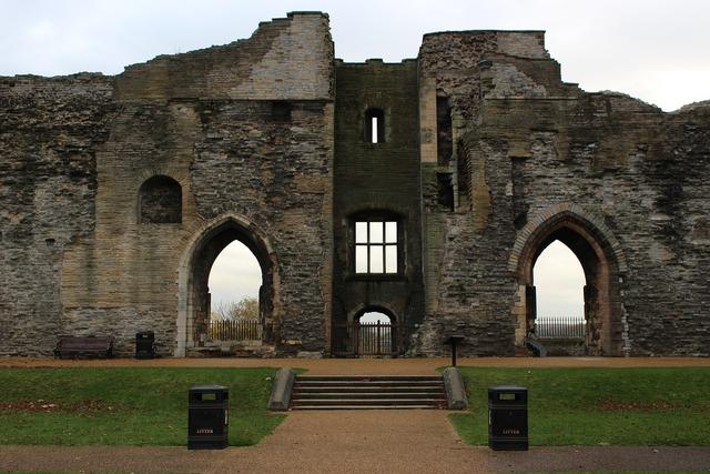 Castle ruins newark, architecture buildings.