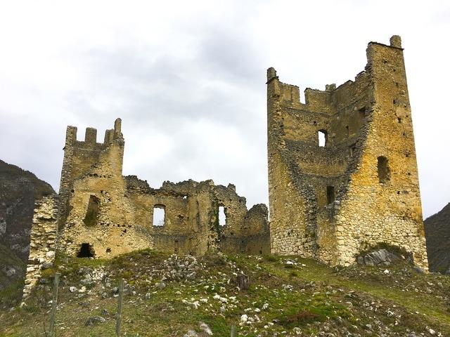 Castle ruins stones.