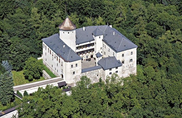 Castle rychumburk aerial view.