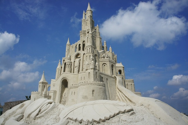 Castle sand sculpture.