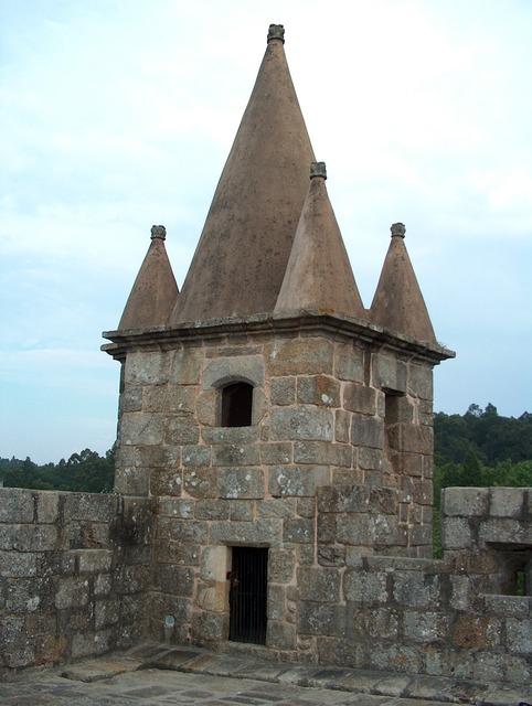 Castle santa maria of the fair portugal.