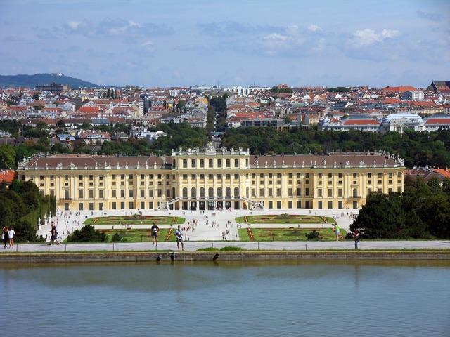 Castle schönbrunn vienna, architecture buildings.