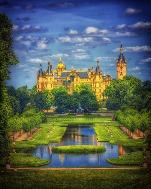 Castle schwerin schwerin castle, architecture buildings.