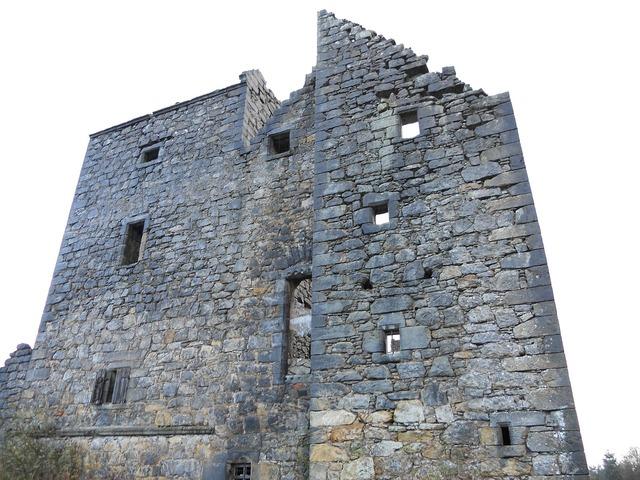 Castle scotland derelict, architecture buildings.