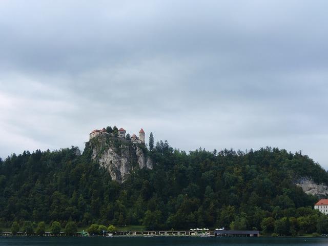 Castle slovenia bled, nature landscapes.