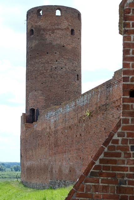Castle tower czersk, travel vacation.