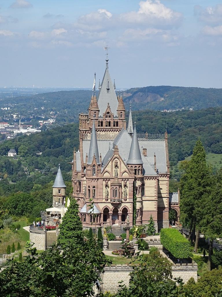 Castle towers castle park, architecture buildings.