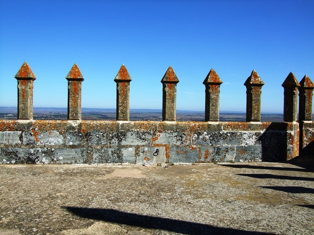 Castle wall battlements castelo de beja.